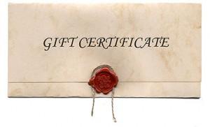 """Massage gift certificate"""